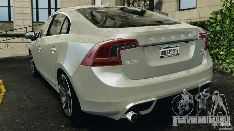 Volvo S60 R-Designs v2.0 для GTA 4 вид сзади слева