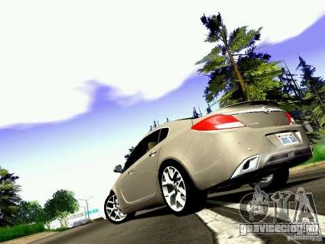 Opel Insignia для GTA San Andreas вид сзади