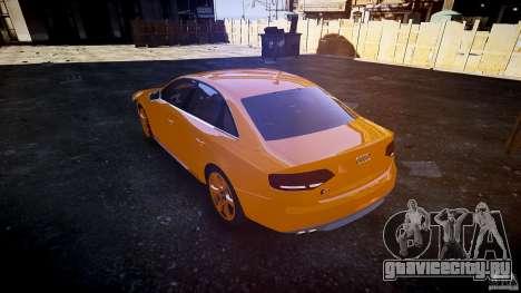 Audi S4 2010 для GTA 4 вид сбоку