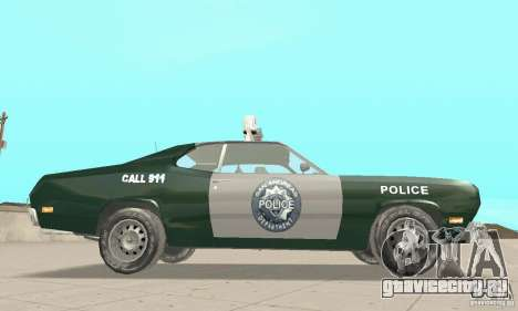 Plymouth Duster 340 Police для GTA San Andreas вид справа