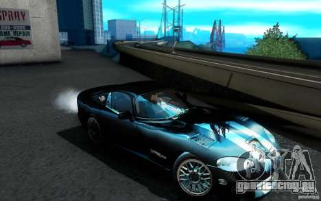 Dodge Viper GTS Coupe TT Black Revel для GTA San Andreas вид снизу