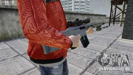 RSASS из MW3 (снайперка) для GTA 4 третий скриншот