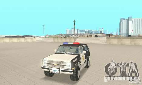 Chevrolet Blazer Sheriff Edition для GTA San Andreas вид слева
