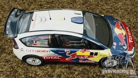 Citroen C4 WRC для GTA 4 вид справа