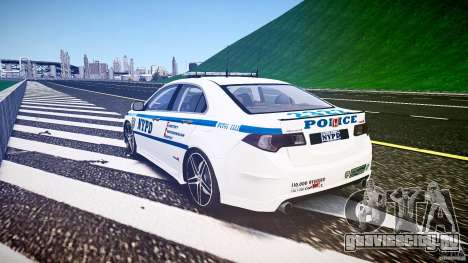 Honda Accord Type R NYPD (City Patrol 2322) ELS для GTA 4 вид сбоку