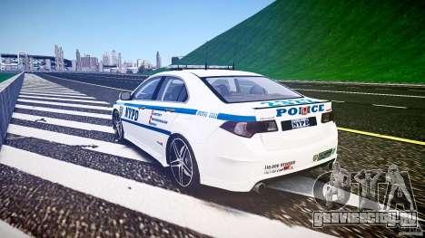 Honda Accord Type R NYPD (City Patrol 2322) ELS для GTA 4 вид сбоку