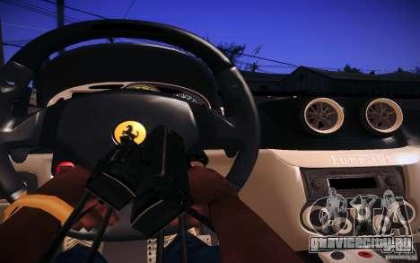Ferrari 599 GTB Fiorano 2010 для GTA San Andreas вид изнутри