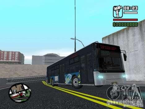 CityLAZ 12 LF для GTA San Andreas вид сзади