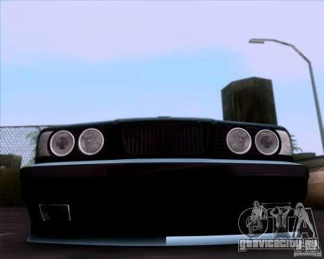 BMW 5-er E34 для GTA San Andreas вид сбоку