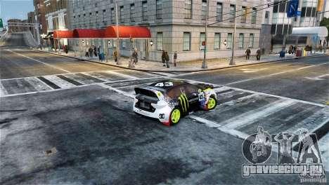 Subaru Impreza WRX STI Rallycross Monster Energy для GTA 4 вид слева