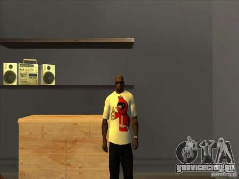 Футболка Омская птица для GTA San Andreas третий скриншот