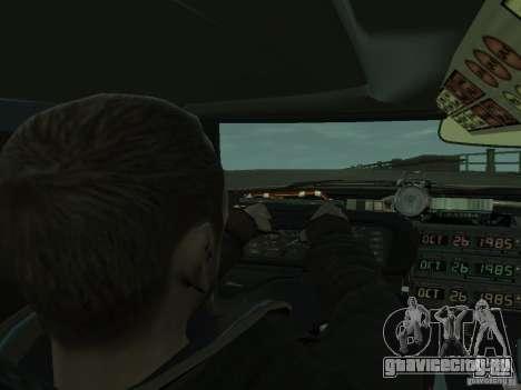 DeLorean BTTF 2 для GTA 4 вид сзади