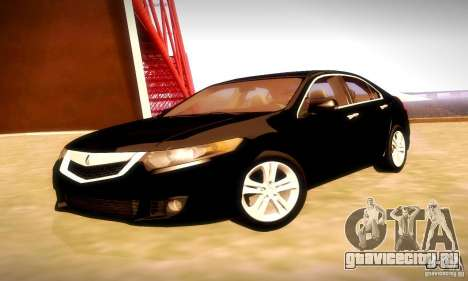 Acura TSX V6 для GTA San Andreas вид сзади