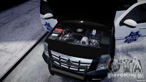 Cadillac Escalade Police V2.0 Final для GTA 4 вид изнутри
