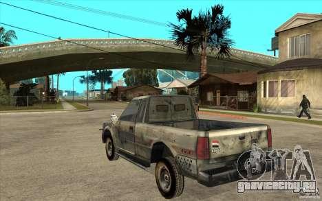Rusty Mazda Pickup для GTA San Andreas вид сзади слева
