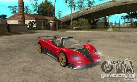 Pagani Zonda Tricolore V1 для GTA San Andreas вид сзади