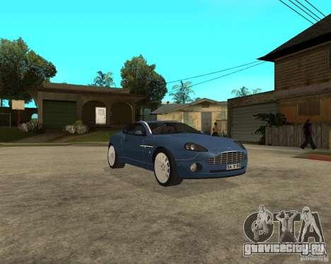Aston Martin Vanquish для GTA San Andreas вид сзади