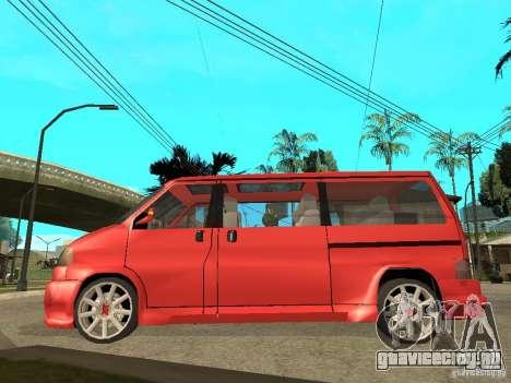 VW T4 Eurovan VR6 BiTurbo 20T для GTA San Andreas вид слева