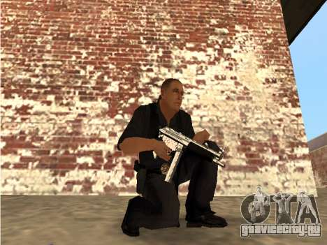 Chrome and Blue Weapons Pack для GTA San Andreas третий скриншот