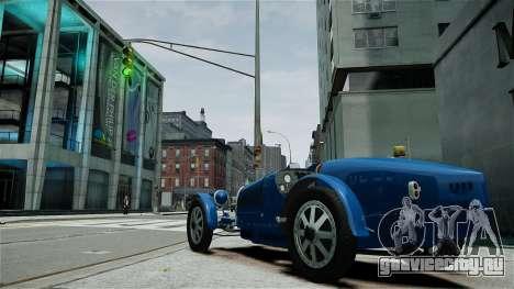 Bugatti Type 35C для GTA 4 вид изнутри