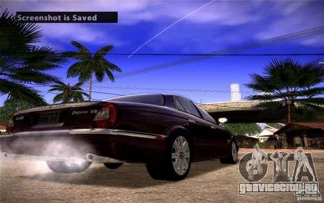 Jaguar Xj8 для GTA San Andreas вид сзади слева