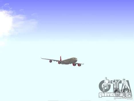 Airbus A340-600 Virgin Atlantic для GTA San Andreas вид сзади
