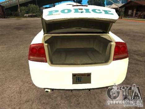 Dodge Charger Police NYPD для GTA San Andreas вид сзади