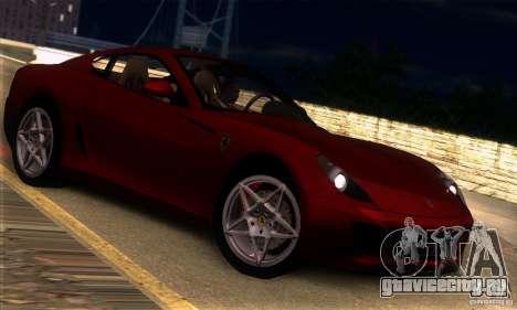 Ferrari 599 GTB Fiorano для GTA San Andreas вид справа
