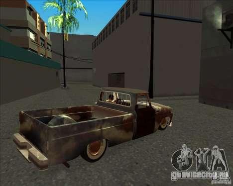 Chevrolet C10 Rat Rod для GTA San Andreas вид сзади слева