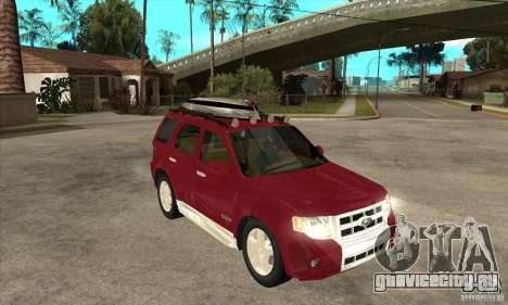 Ford Escape 2009 для GTA San Andreas вид сзади
