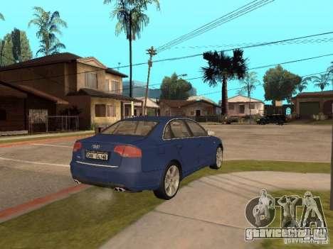 Audi S4 для GTA San Andreas вид сбоку