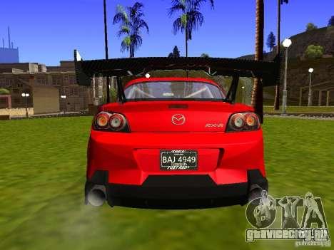 Mazda RX-8 R3 Tuned 2011 для GTA San Andreas вид сзади