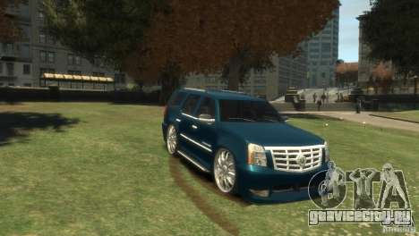 Cadillac Escalade Dub для GTA 4 вид сзади