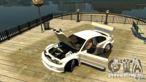 BMW E46 M3 GTR Sport для GTA 4 вид сзади