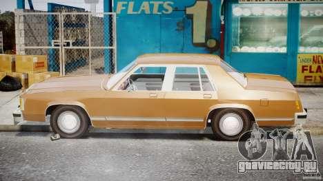 Ford Crown Victoria 1983 для GTA 4 вид сбоку