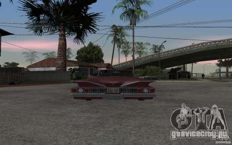 Chevrolet Impala 1960 для GTA San Andreas вид сзади слева
