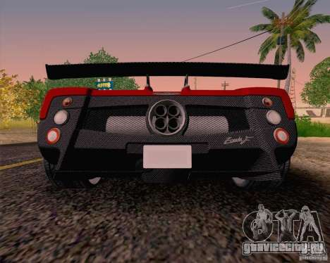 Pagani Zonda F v2 для GTA San Andreas вид справа