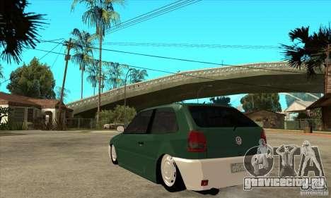 Volkswagen Gol v1 для GTA San Andreas вид сзади слева