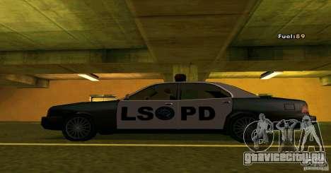 Merit Police Version 2 для GTA San Andreas вид слева