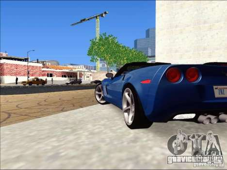 Chevrolet Corvette Grand Sport Cabrio 2010 для GTA San Andreas вид сзади слева