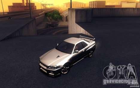 Nissan Skyline GTR R34 VSpecII для GTA San Andreas