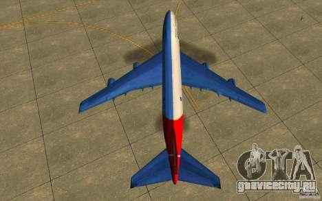 Boeing Qantas 747-400 для GTA San Andreas вид справа