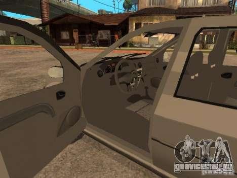 Dacia Logan 1.6 для GTA San Andreas вид сверху