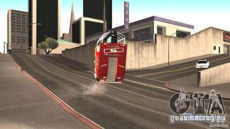 Scania 93H 6x2 Trio Eletrico для GTA San Andreas вид сзади