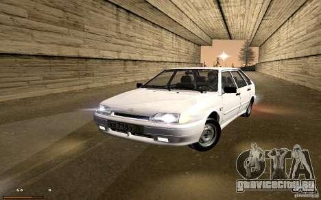 ВАЗ 2114 Quality для GTA San Andreas вид сзади
