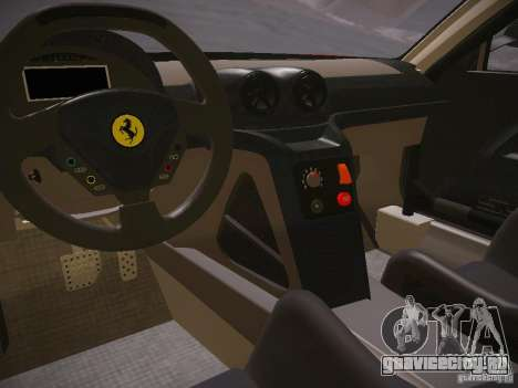 Ferrari 599XX для GTA San Andreas вид сзади