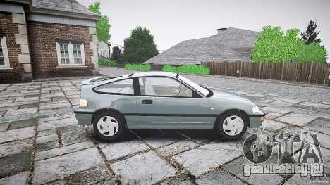 Honda CRX 1991 для GTA 4 вид сбоку