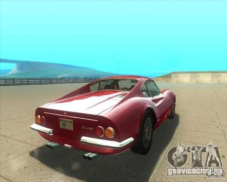 Ferrari Dino 246 GT для GTA San Andreas вид сзади слева
