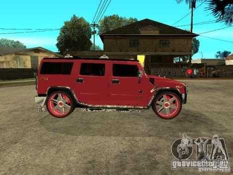 Hummer H2 Diablo для GTA San Andreas вид сзади слева