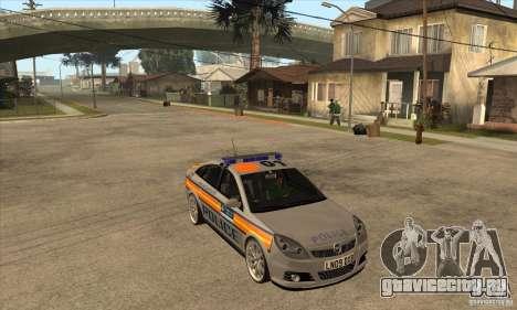 Opel Vectra 2009 Metropolitan Police для GTA San Andreas вид сзади